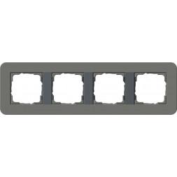Рамка 4-постовая Gira E3 темно-серый/антрацит 0214423