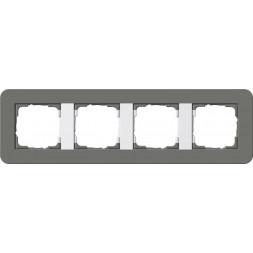 Рамка 4-постовая Gira E3 темно-серый/белый глянцевый 0214413