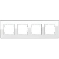 Рамка 4-постовая Gira Esprit C белое стекло 0214512