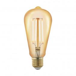 Лампа светодиодная филаментная диммируемая Eglo E27 4W 1700К золотая 11696
