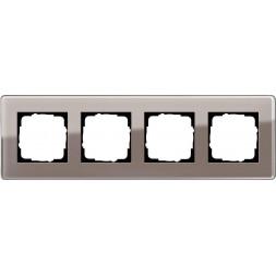Рамка 4-постовая Gira Esprit C дымчатое стекло 0214522