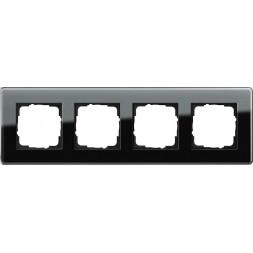 Рамка 4-постовая Gira Esprit C черное стекло 0214505