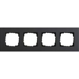 Рамка 4-постовая Gira Esprit Lenoleum-Multiplex антрацит 0214226