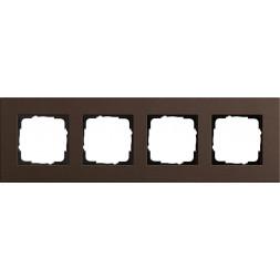 Рамка 4-постовая Gira Esprit Lenoleum-Multiplex коричневый 0214223
