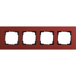 Рамка 4-постовая Gira Esprit Lenoleum-Multiplex красный 0214229