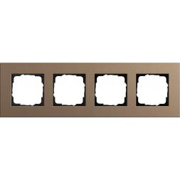 Рамка 4-постовая Gira Esprit Lenoleum-Multiplex светло-коричневый 0214221