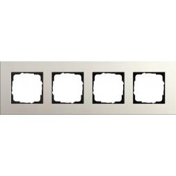 Рамка 4-постовая Gira Esprit Lenoleum-Multiplex светло-серый 0214220