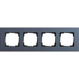 Рамка 4-постовая Gira Esprit Lenoleum-Multiplex синий 0214227