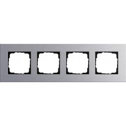 Рамка 4-постовая Gira Esprit алюминий 021417