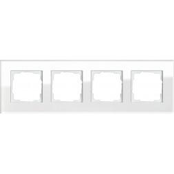 Рамка 4-постовая Gira Esprit белое стекло 021412