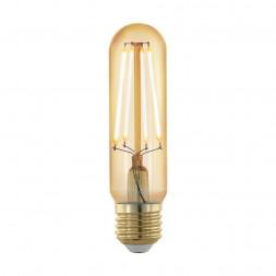 Лампа светодиодная филаментная диммируемая Eglo E27 4W 1700К золотая 11697
