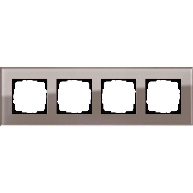 Рамка 4-постовая Gira Esprit дымчатое стекло 0214122