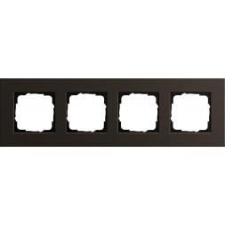Рамка 4-постовая Gira Esprit коричневый 0214127