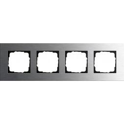 Рамка 4-постовая Gira Esprit нержавеющая сталь 0214219