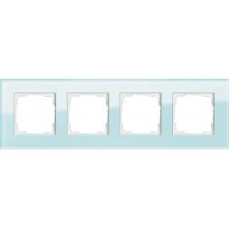 Рамка 4-постовая Gira Esprit салатовое стекло 021418