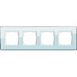 Рамка 4-постовая Gira Esprit салатовое стекло С 0214518