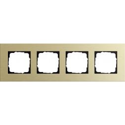 Рамка 4-постовая Gira Esprit светло-золотой 0214217