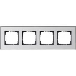 Рамка 4-постовая Gira Esprit хром 021410