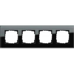 Рамка 4-постовая Gira Esprit черное стекло 021405