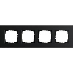 Рамка 4-постовая Gira Esprit черный 0214126