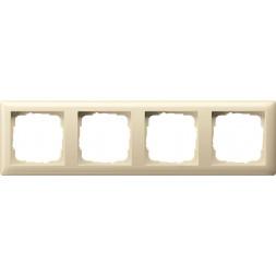 Рамка 4-постовая Gira Standard 55 кремовый глянцевый 021401