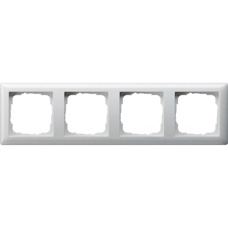 Рамка 4-постовая Gira Standard 55 чисто-белый глянцевый 021403