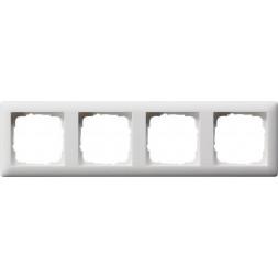 Рамка 4-постовая Gira Standard 55 чисто-белый шелковисто-матовый 021404