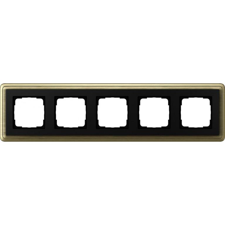Рамка 5-постовая Gira ClassiX Art бронза/черный 0215622