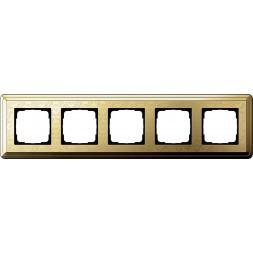 Рамка 5-постовая Gira ClassiX Art латунь 0215671