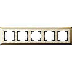 Рамка 5-постовая Gira ClassiX Art латунь/кремовый 0215673