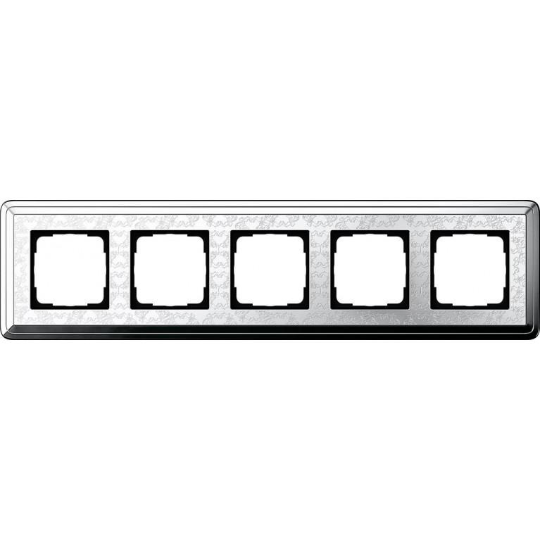 Рамка 5-постовая Gira ClassiX Art хром 0215681