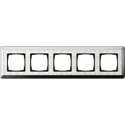 Рамка 5-постовая Gira ClassiX Art хром/кремовый 0215683