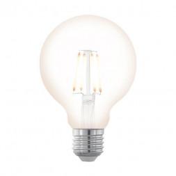 Лампа светодиодная филаментная диммируемая Eglo E27 4W 2200К прозрачная 11706