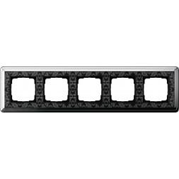 Рамка 5-постовая Gira ClassiX Art хром/черный 0215682