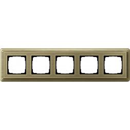 Рамка 5-постовая Gira ClassiX бронза 0215621