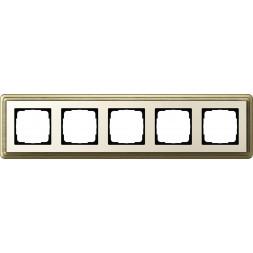 Рамка 5-постовая Gira ClassiX бронза/кремовый 0215623