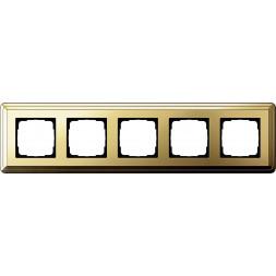 Рамка 5-постовая Gira ClassiX латунь 0215631