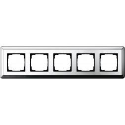 Рамка 5-постовая Gira ClassiX хром 0215641