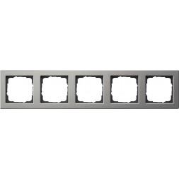 Рамка 5-постовая Gira E2 нержавеющая сталь 021533