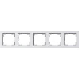 Рамка 5-постовая Gira E2 чисто-белый шелковисто-матовый 021522