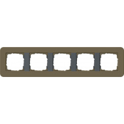 Рамка 5-постовая Gira E3 дымчатый/антрацит 0215426