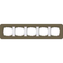 Рамка 5-постовая Gira E3 дымчатый/белый глянцевый 0215416