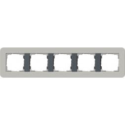 Рамка 5-постовая Gira E3 серый/антрацит 0215422