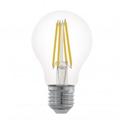 Лампа светодиодная филаментная диммируемая Eglo E27 6W 2700К прозрачная 11701