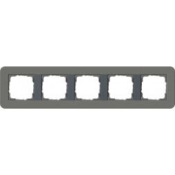 Рамка 5-постовая Gira E3 темно-серый/антрацит 0215423