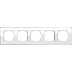 Рамка 5-постовая Gira Esprit C белое стекло 0215512
