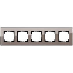 Рамка 5-постовая Gira Esprit C дымчатое стекло 0215522