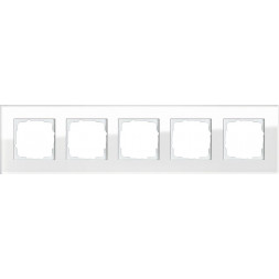 Рамка 5-постовая Gira Esprit белое стекло 021512