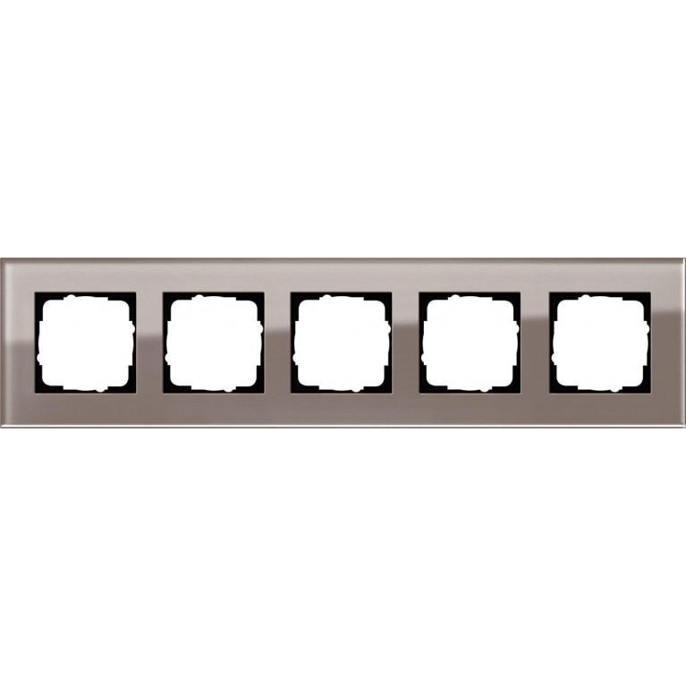 Рамка 5-постовая Gira Esprit дымчатое стекло 0215122