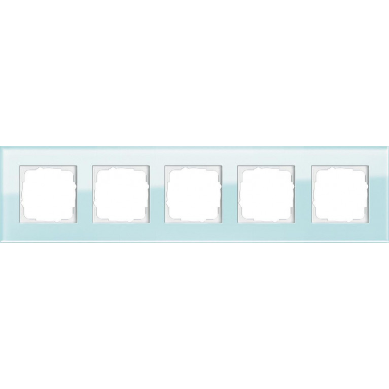 Рамка 5-постовая Gira Esprit салатовое стекло 021518